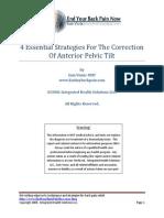 4 Essential Strategies for the Correction of Anterior Pelvic Tilt