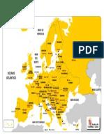 MAPA EUROPA - Político - Color - Con Referencias