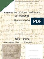 Estudar Os Cabidos Medievais Portugueses