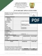 Application Form - The Arellano Standard
