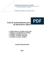 Manual de Mantenimiento Para Equipo de Laboratorio
