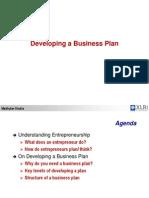 Developing a Business Plan - Madhukar Shukla