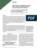 Reglamentacion Etica Colombia Estudios de Investigacion