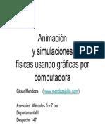 Animacion y Simulacion Usando Graficas en Computadora