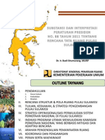 Substansi dan Interpretasi Peraturan Presiden Nomor 88 Tahun 2011 tentang Rencana Tata Ruang Pulau SulawesiPerpres Pulau Sulawesi
