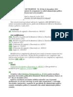 OUG 96-2012 Reorganizare in Cadrul Admin Publice Actualizat 15-11-2013