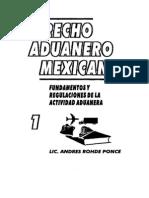 Derecho Aduanero Mexicano 1- Andres Rohde Ponce
