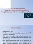 Biological Activity Analysis of Native and Recombinant Streptokinase