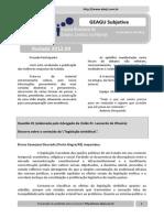Resultado GEAGU Subjetiva - Rodada 2012.09 (Ata)