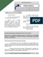 Resultado GEAGU Subjetiva - Rodada 2012.22 (Ata)