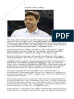 Why Mauricio Pochettino Can Become a World-class Manager