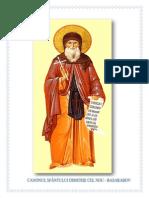 Foaie Canonul Sf Dimitrie Cel Nou