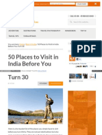 50 Places to Visit in India Before You Turn 30