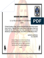 INVITACIÓN A MISA DE HONRAS  Got. WILLIAN DAVALOS FERNANDEZ