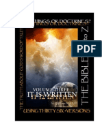IT IS WRITTEN VOLUME III. – Teachings or Doctrines?