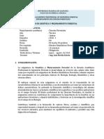 SILABO DE GENÉTICA Y MEJORAMIENTO FORESTAL