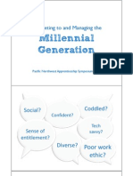 Marketing to and Managing the Millennial Generation