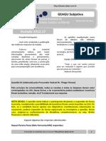 Resultado GEAGU Subjetiva - Rodada 2012.17 (Ata)
