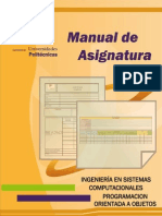 M.A. Programacioìn Orientada a Objetos
