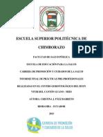 INFORME DE PRÁCTICAS PRE PROFESIONALES CRISTINA PÁEZ