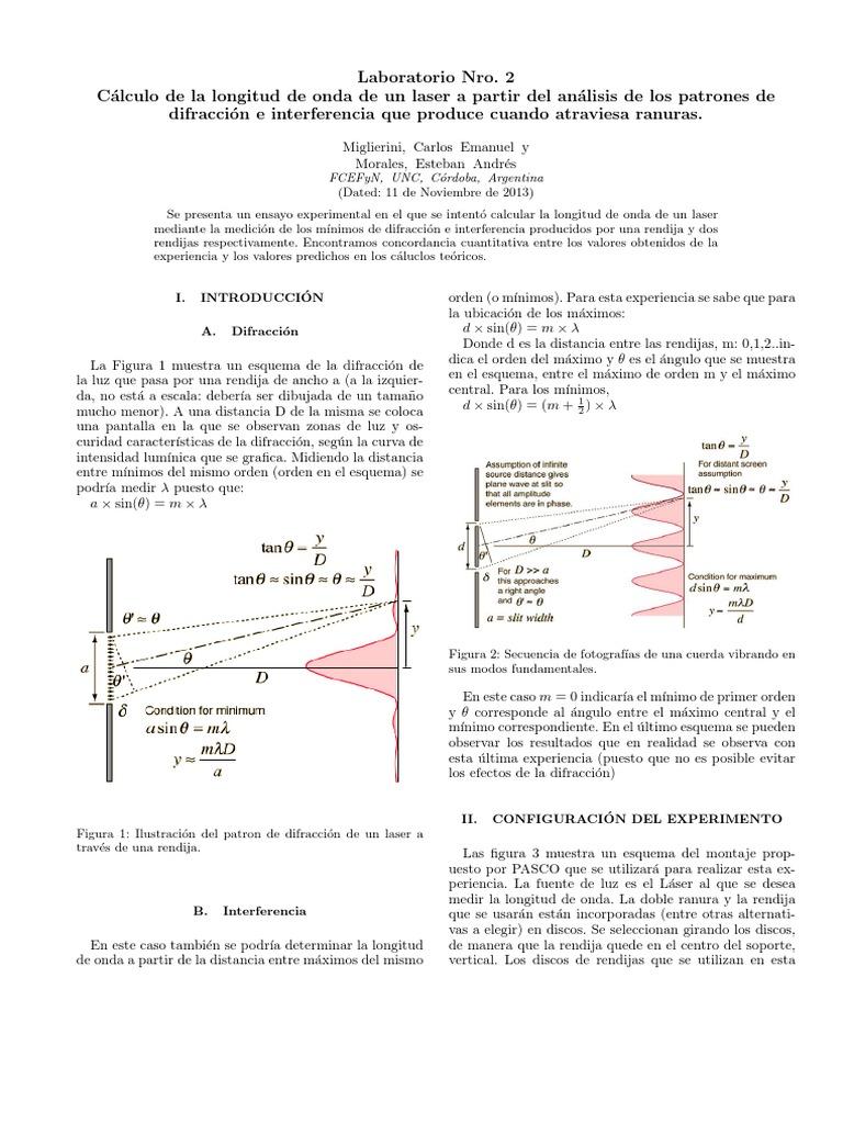 Excelente Interferencia De Las Ondas De Hoja De Cálculo Colección ...