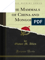 The Mammals of China and Mongolia 1000140913