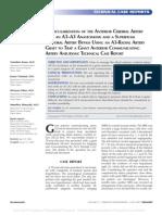 Revascularization of the Anterior Cerebral Artery.38
