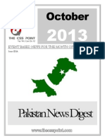 PAKISTAN NEWS DIGEST OCTOBER - 2013