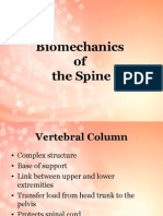 Bio Mechanics of Spinal Column