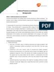 Childhood Pneumococcal Disease Backgrounder
