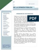 2010 Intención de voto municipal - Julio