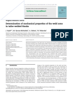 Determination of Mechanical Properties of the Weld Zone in Tailor-welded Blanks