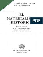 156350243 Konstantinov El Materialismo Historico