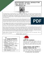 OMMS Newsletter 11-12-2013