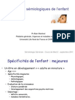 Semiologie de l'Enfant
