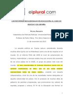 Las reformas neoliberales en educacion, el caso de Suecia y de España   Vicenc Navarro López