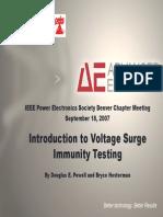 Denver PELS 20070918 Hesterman Voltage Surge Immunity