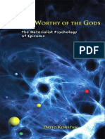 David Konstan a Life Worthy of the Gods the Materialist Psychology of Epicurus 2008