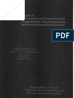 Law of Negotiable Instruments Major D.H. Boughton 1904