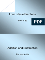 Four Rules of Fractions