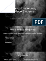 group presentation smoking among college students