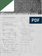 Gelson Iezzi - Matemática, Respostas dos Exercícios e Testes, vol único, 4 edição