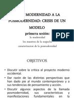 De La Modernidad a La Posmodernidad
