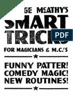 George McAthys Smart Tricks for Magicians PDF