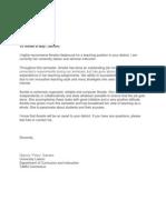 amelia recommendation letter