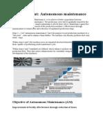 TPM Mean Autonomous Maintenance