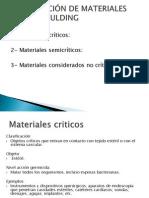 CLASIFICACIÓN DE MATERIALES SEGÚN SPAULDING