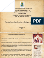 Trovadorismo - Cancioneiros e Cantigas de Santa Maria