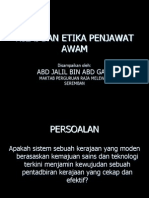 Etika Penjawat Awam