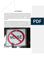 Understanding & Causes of Noise Pollution